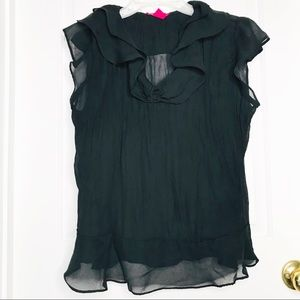 Sunny Leigh Black Blouse Sz XL